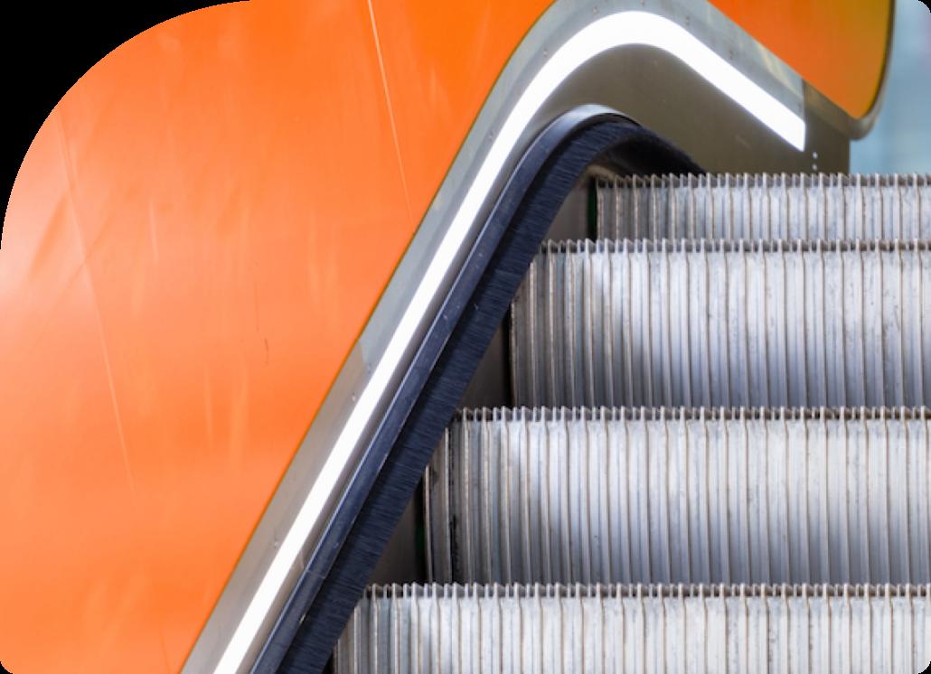 yellow -escalator